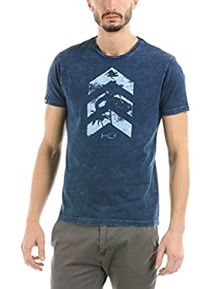 HOT BUTTERED Camiseta Manga Corta Arrow (Indigo) Azul Marino 2XL
