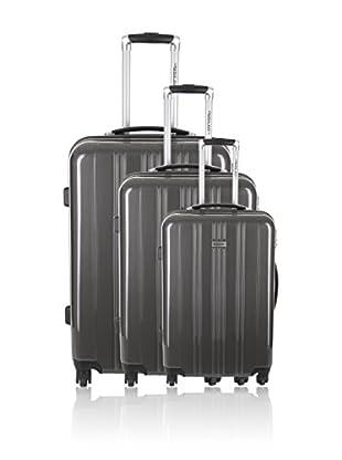 Travel ONE Set de 3 trolleys rígidos Badon Gris
