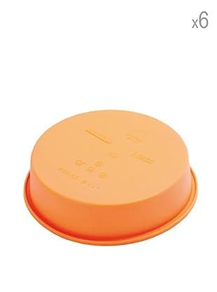 Pavoni Set 6 Moldes Para Mini Pasteles