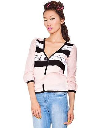 Custo Camiseta Erres (Rosa / Negro)