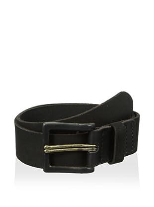 John Varvatos Star USA Men's 40 mm Double Prong Suede Belt (Black)