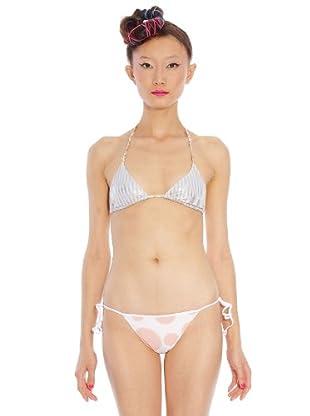 Custo Bikini (Blanco / Azul / Rosa)