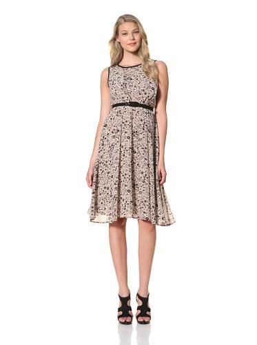 Eva Franco Women's Samantha Sleeveless Dress with Belt (Tree Of Heaven)