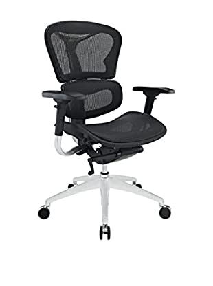 Modway Lift Mid Back Office Chair, Black