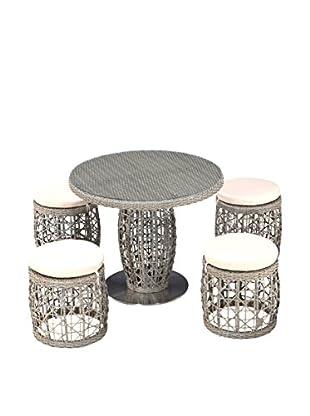 Ceets Basson 5-Piece Outdoor Dining Set, Natural/Tan
