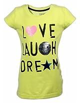 Gini & Jony Love Laugh Dream Top - Yellow (1 - 8 Years)