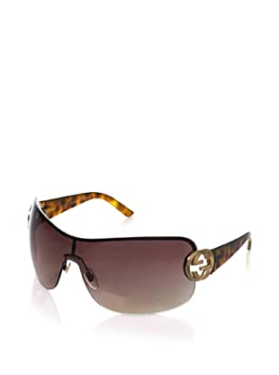 Gucci Women's GUCCI 2890/S Shield Sunglasses (Shiny Brown & Havana Frame/Brown Gradient Lens)