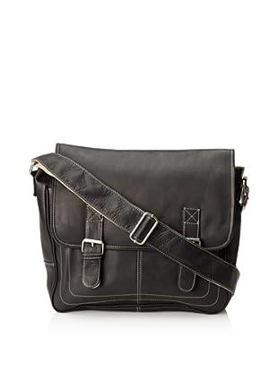 Latico Basics Adventurer Messenger Bag (Black)