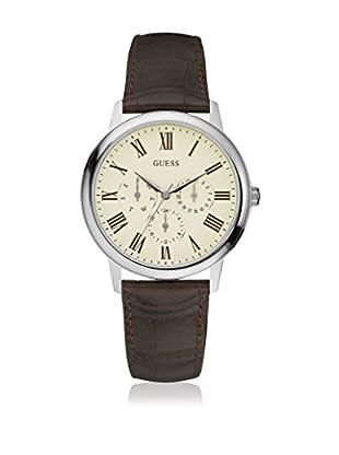 Guess Uhr mit japanischem Mechanikuhrwerk Man Wafer Silver Tone silberfarben 39 mm