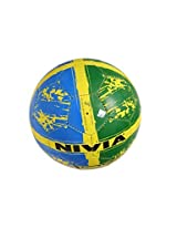 Nivia Football, Size 5 (Yellow/Blue/Black)