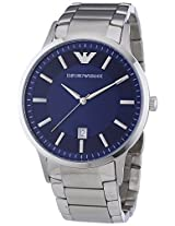 Emporio Armani Men's AR2477 Silver/Blue Stainless Steel Watch