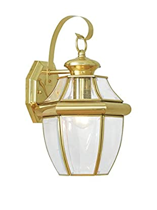 Crestwood Mabel 1-Light Wall Light, Polished Brass