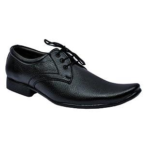Stanza Black Men Formal Shoes - 1310