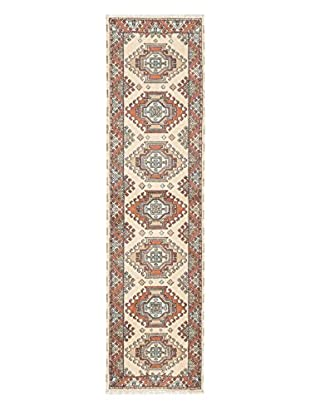 Hand-Knotted Royal Kazak Rug, Cream, 2' 8