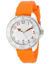 Android Women's AD512AWRG Exotic White Ceramic Orange Rubber Strap Watch