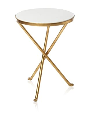 Safavieh Marcie Accent Table (White/Gold)