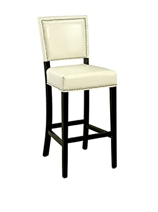 Abbyson Living Napa Bicast Leather Bar Stool, White