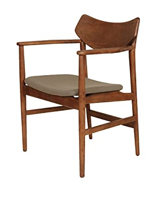 Control Brand The Borlange Arm Chair, Walnut/Grey