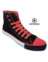 Converse Men'S Canvas Shoe 111136-Black Orange