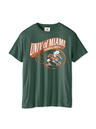 Tailgate Clothing Company Men's Miami Hurricanes Short Sleeve Tee (Vintage Green)