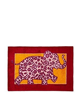 Hermès Elephant King Bath Mat, Burgundy