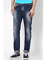 Blue Narrow Fit Jeans Spykar