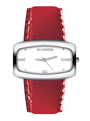 K&BROS 9154-1 / Reloj de Señora  con correa de piel rojo