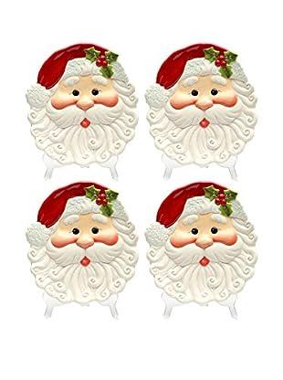 Cosmos Set of 4 Santa Plates
