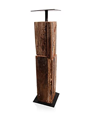 Asian Art Imports Tropical Hardwood Candle Holder, Medium