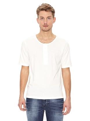 Nudie Jeans Camiseta MC Cuello Panadero (Blanco)