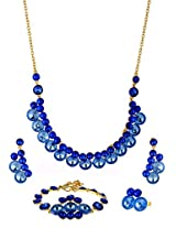 Blue crystals royal Jewellery Set