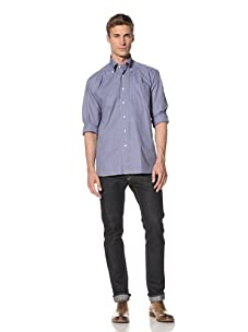 Orian Men's Check Shirt (Blue Check)