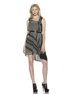 Preen Women's Curve Silk Dress (Black)