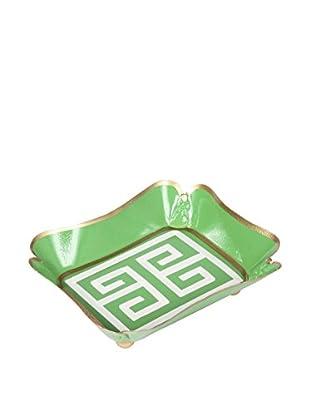 Jayes Greek Key Trinket Tray, Green