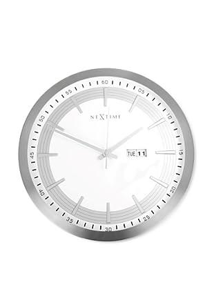 NeXtime Captain Wall Clock (Silver)