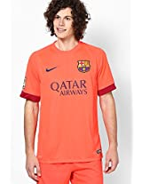 Red Fcb Barcelona Crew Neck T Shirt