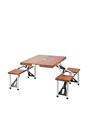 Picnic at Ascot Portable Picnic Table Set (Medium Brown)