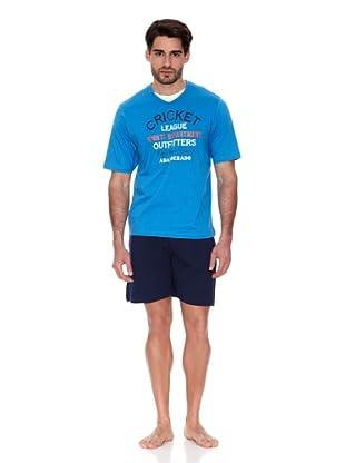 Abanderado Pijama Algodón estampado (Azul / Marino)