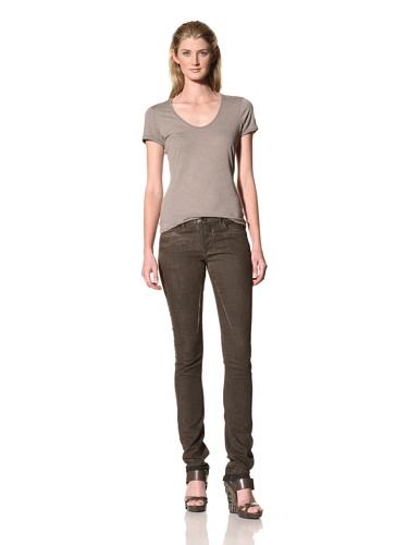 RICK OWENS Women's Detroit Cut Stretch Jean (Bitter Wax)