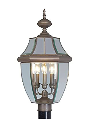 Crestwood Marigold 3-Light Post Head, Bronze