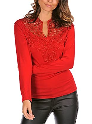 Les Frangines Camiseta Manga Larga Liham Rojo ES 38