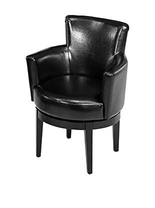 Armen Living Swivel Club Chair, Black