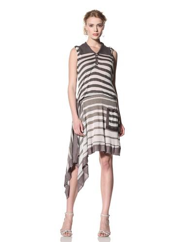 Byron Lars Women's Nautical Stripe Knit Dress (Khaki)