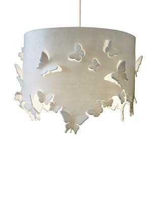 Innermost Delight Drum Pendant, White