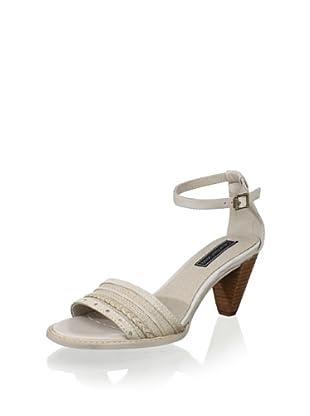 Calvin Klein Jeans Women's Laina Sandal (Off white)