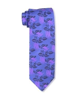 Massimo Bizzocchi Men's Floral Tie, Blue/Purple