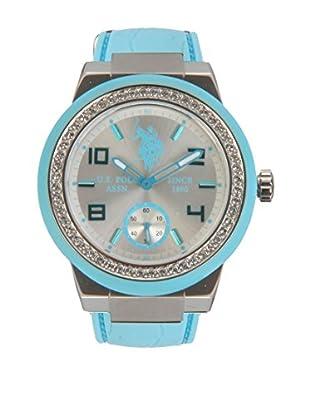 U.S. POLO ASSN. Uhr mit japanischem Quarzuhrwerk Glamour himmelblau 40 mm