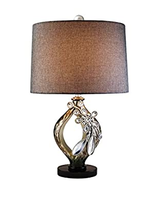 ORE International Belleria 1-Light Table Lamp, Brown