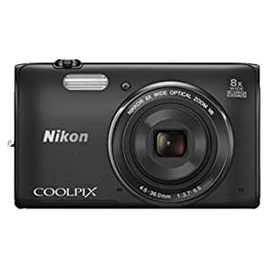Nikon S5300 16 MP Point and Shoot Camera (Black) with 8x Optical Zoom, 4GB Card and Camera Case
