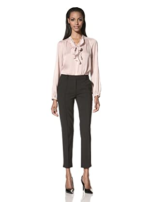 HALSTON HERITAGE Women's Skinny Leg Tailored Pant (Black)